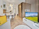 HERRYS - Na predaj zariadený 1,5 izbový byt s balkónom v novostavbe v Slnečniciach