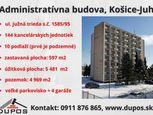 DUPOS - Príprava 1. kola dražby administratívnej budovy - Košice