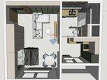Na predaj kompletne zrekonšruovaný 1-izbový byt 37m2 v meste Šamorín