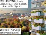 EXKLUZÍVNE: 3i byt s balkónom vedľa Ligetu, 6. posch., 90m2 + 6m2, BA