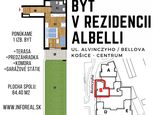 Unikátna ponuka 1 izb. byt (84,40m2) v NOVOSTAVBE  ALBELLI, terasa a predzáhradka, centrum Košíc
