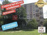 NA PREDAJ: 3 izb. byt 66m2 s balkónom 6/10 p. Mládežnícka, Fončorda BB