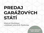 NA PREDAJ - Garáž v Moste pri Bratislave