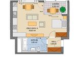 1-izbový byt (1905.C) na 19.poschodí- DANUBIUS ONE