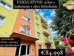 EXKLUZÍVNE: 3 izbový byt s balkónom po rekonštrukcii, Sebedražie