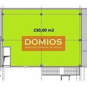 Prenájom klim. obchod. priestorov (230 m2, 1. p., výklad, WC, parking)