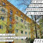 TOP LOKALITA: 2 izbový byt na Puškinovej ulici, 56 m2, 3. posch.,ZA