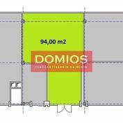 Prenájom klim. obchod. priestorov (94 m2, príz., výklad, WC, parking)