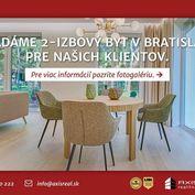 AXIS REAL:: Hľadáme pre našich klientov 2-izbový byt v Bratislave III.