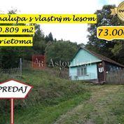 IBA U NÁS! Výnimočná nehnuteľnosť,chalupa a pozemok 30 809m2, Drietoma