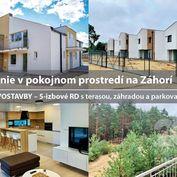 Hľadáte bývanie v pokojnom prostredí na Záhorí?   NOVOSTAVBY - 5-izbové RD s terasou, záhradou a PAR