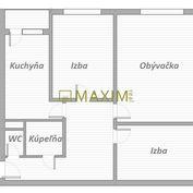 Zariadený 3- izbový byt na Furdekovej ulici