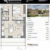 Byty Ruppeldtova: Na predaj 2 izbový byt C1 v novostavbe s terasou a predzáhradkou 27 m2 , Martin -