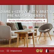 AXIS REAL:: Hľadáme pre našich klientov 1-izbový byt v Bratislave II.