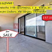 3-izb. apartmán pri mori, 65,70m2, 2. poschodie, Nin, Chorvátsko