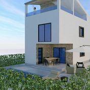 Nová rodinná vila s bazénem a výhledem na moře, Vir, Chorvatsko