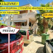 Apartmánový dom, 2 3-izbové apartmány, 250m od mora, Vir, Chorvátsko