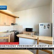Veľký 2 izbový prerobený byt, Hollého, Nitra + 3D
