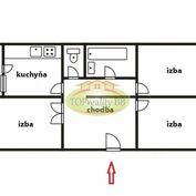 Byt 3 izbový 72 m2, typ VNKS s lodžiou,  - čiastočná rekonštrukcia , Banská Bystrica