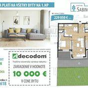 !!AKCIA .ZARIADENIE V CENE!! Nadštandardný 3 izbový byt s terasou a záhradou- bytový dom Sabinovská