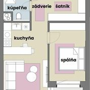 2 izbový byt v novostavbe so šatníkom za TOP CENU! Miloslavov