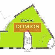 Predaj klim. kancel. celku (170+80 m2, príz., samost. vstup, kuch., parking)