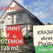 EXKLUZÍVNE REALITY PROGRES PONÚKA RODINNÝ DOM A POZEMOK 1135 m2 KRAJNÉ okres MYJAVA