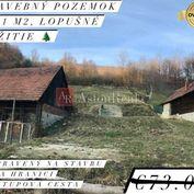 Stavebný pozemok na PREDAJ: 1391 m2 v obci Lopušné Pažitie, KNM