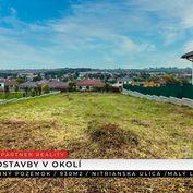 Stavebný pozemok 930 m2, Malý Lapáš, Nitra