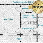 Predaj 1izb. byt + loggia, Bratislava - Trnávka, Banšelova ul.