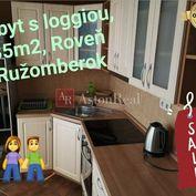 REZERVOVANÉ: 1 izbový byt s loggiou - 35m2, Ružomberok - Roveň
