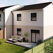 Novostavba 2podlažného rodinného domu v dvojdome- 91m2 s pozemkom 350m2 na kľúč