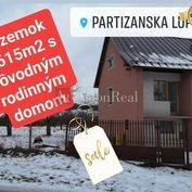 REZERVOVANÉ:  Rodinný dom s pozemkom 2.615m2, Partizánska Ľupča