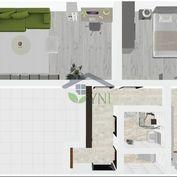 Slnečný 2-izbový byt v Martine - moderná vizualizácia