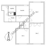 Veľký 3-izbový byt v Dúbravke na Červeňákovej ulici