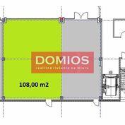 Prenájom klim. obchod. priestorov (108 m2, príz., výklad, WC, parking)