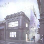 Projekt menšej polyfunkcie (bývanie + nebytový priestor) v centre Bratislavy