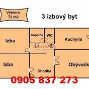 Na predaj 3 izbový byt VNKS v Banskej Bystrici, mestská časť Sásová