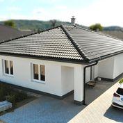 NA PREDAJ moderná novostavba 3-izbového bungalovu s výhľadom na hrad v novovybudovanej štvrti v obci