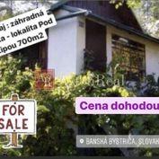 Predaj: Záhradná chatka - lokalita POD LIPOU, 700 m2