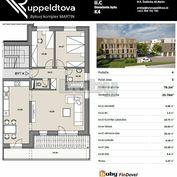 Byty Ruppeldtova: Na predaj luxusný 3 izbový byt K4 s terasou 20m2, v novostavbe, Martin - širšie ce