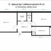 Predaj 2-izbový byt, loggia, stredový, ul. Clementisová, SEVER, Prievidza