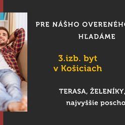 Hľadáme 3.izb. byt - Košice - KVP - Terasa - Železníky
