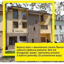 Directreal ponúka Town House s 2x 5 izbovým bytom, bazénom a dvojgarážou v absolútnom centre Šamorín