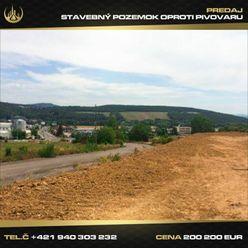 Stavebný pozemok oproti Pivovaru