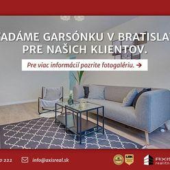 AXIS REAL:: Hľadáme pre našich klientov garsónku v Bratislave III.