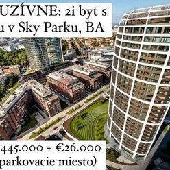 EXKLUZÍVNE: 2i byt s loggiou v Sky Parku, 12. posch., 57 m2 + 5 m2, BA
