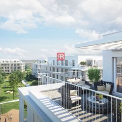 HERRYS - Na predaj 2 izbový apartmán s terasou v projekte Nový Ružinov