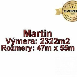 MARTIN-STRÁNE, pozemok 2322 m2