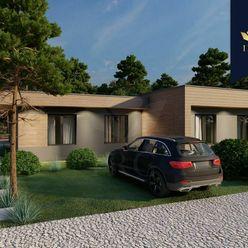IRG   Dizajnový rodinný dom so záhradou uprostred lesa v obci Veľké Leváre